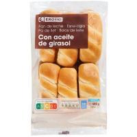 Pan de leche EROSKI, 12 unid., paquete 480 g