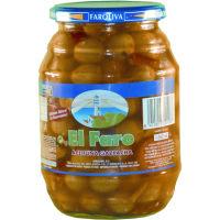 Aceitunas gazpachas EL FARO, frasco 600 g