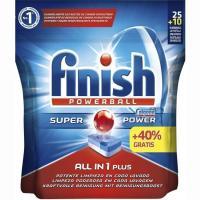 Lavavajillas máquina FINISH Todo en 1, bolsa 25+10 dosis