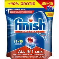 Lavavajillas máquina FINISH Todo en 1, bolsa 35+15 dosis