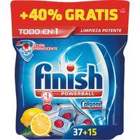Lavavajillas máquina limón FINISH Todo en 1, bolsa 35+15 dosis