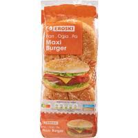 Pan hamburguesa Maxiburguers EROSKI, 4 unid., paquete 300 g
