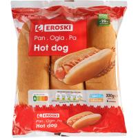 Hot dog EROSKI, 6 uds., paquete 330 g