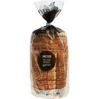 Pan de molde rústico EROSKI, paquete 450 g