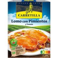 Lomo con pimientos CARRETILLA, bandeja 250 g
