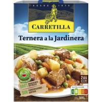 Ternera a la jardinera CARRETILLA, bandeja 275 g