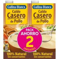 Caldo de pollo GALLINA BLANCA, pack 2x1 litro
