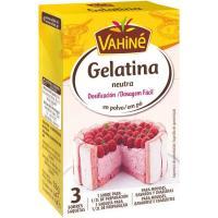 Gelatina neutra en polvo VAHINÉ, caja 18 g