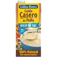 Caldo casero de pollo bajo en sal GALLINA BLANCA, brik 1 litro