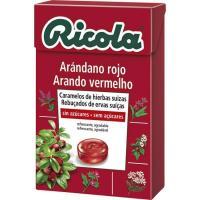 Caramelos de arándanos sin azúcar RICOLA, caja 50 g
