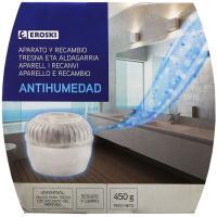 Ambientador antihumedad EROSKI, aparato-recambio 450 g
