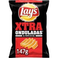 Patatas fritas onduladas al punto de sal LAY`S Xtra, bolsa 147 g