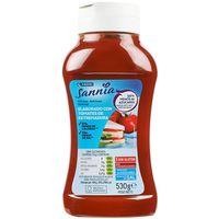 Ketchup menos azúcares EROSKI Sannia, bote 530 g