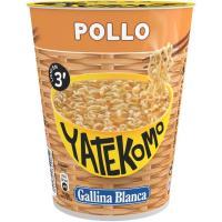 Fideos orientales pollo YATEKOMO,cup 60g