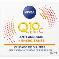 Energizante antiarrugas FP15 NIVEA Q10, tarro 50 ml