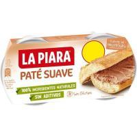 Paté suave LA PIARA Sólo Natural, pack 2x75 g