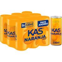 Refresco de naranja KAS, pack 9x33 cl