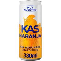 Refresco de naranja KAS Zero Azúcar, lata 33 cl