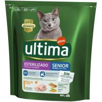 Alimento para gato senior esterilizado ULTIMA, paquete 800 g