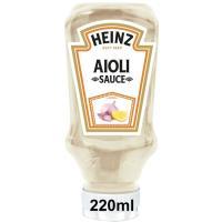Salsa alioli HEINZ, bocabajo 220 g