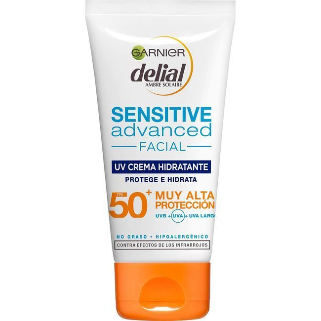 Crema facial sensitive FPS50 DELIAL, tubo 50 ml