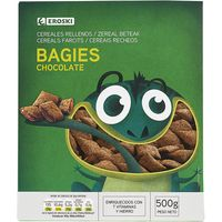 Bagies rellenos de chocolate EROSKI, caja 500 g