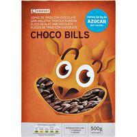 Choco Bills de trigo EROSKI, caja 500 g