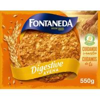 Galleta Digestive de avena FONTANEDA, caja 550 g