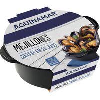 Mejillón en su jugo AGUINAMAR, bandeja 400 g