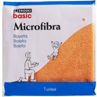 Bayeta de microfibra EROSKI basic, pack 1 ud.