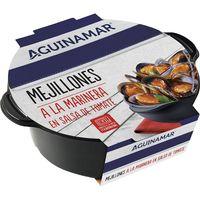 Mejillón en salda de tomate AGUINAMAR, bandeja 400 g