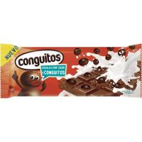 Chocolate con leche con conguitos CONSGUITOS, tableta 110 g