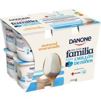 Yogur natural azucarado DANONE, pack 12x120 g