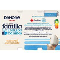 Yogur natural azucarado DANONE, pack 12x120 g