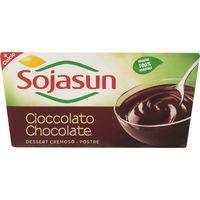 Postre de soja-chocolate SOJASUN, pack 2x100 g