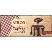 Chocolate puro para postre VALOR, tableta 200 g