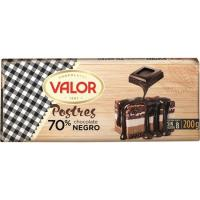 Chocolate 70% para postre VALOR, tableta 200 g