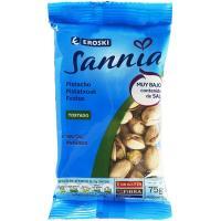 Pistachos tostado sin sal EROSKI Sannia, bolsa 75 g