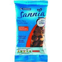 Mix de frutos secos con fibra EROSKI Sannia, bolsa 75 g