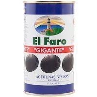 Aceitunas negras con hueso EL FARO, lata 150 g