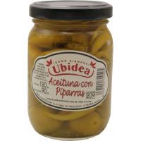Aceitunas con piparra UBIDEA, frasco 90 g