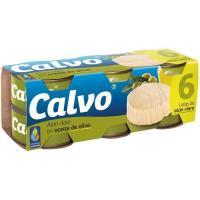 Atún claro en aceite de oliva CALVO, pack 6x80 g