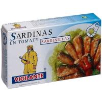 Sardina sardinilla en tomate VIGILANTE, lata 90 g