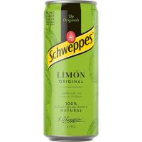 Refresco de limón con gas SCHWEPPES, lata 33 cl