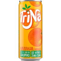 Refresco de naranja sin gas TRINA, lata 33 cl