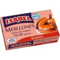 Mejillón en salsa picante 13/18 piezas ISABEL, lata 115 g
