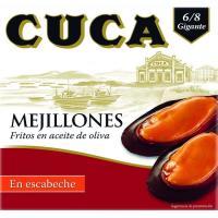Mejillón en escabeche 6/8 piezas CUCA, lata 115 g