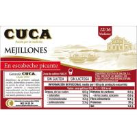 Mejillón en salsa picante 12/16 piezas CUCA, lata 115 g