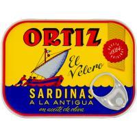 Sardina en aceite de oliva a la antigua ORTIZ, lata 140 g