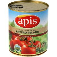 Tomate natural entero pelado APIS, lata 780 g